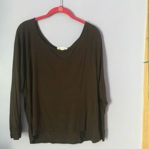 Ambiance Apparel Brown Long Sleeved Tee